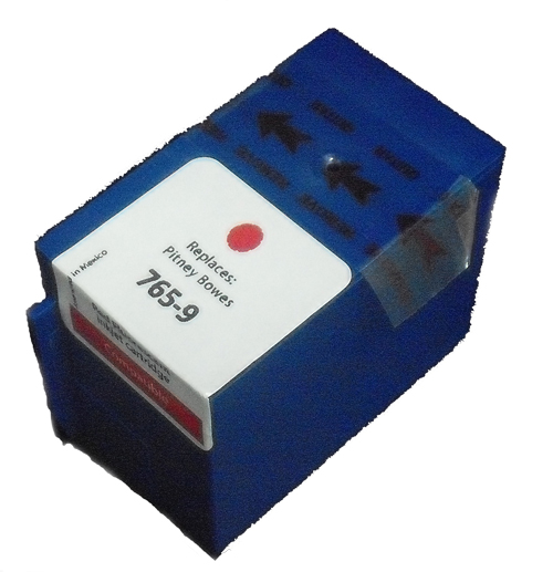 Premium Quality Red Inkjet Cartridge compatible with Pitney Bowes 765-9
