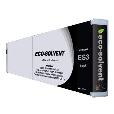 Premium Quality Black Eco Solvent Ink compatible with Mimaki ES3 Bk-440