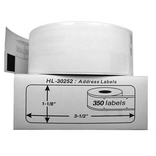 Premium Quality Black on White Shipping Labels compatible with Dymo 30252 (300 pcs)